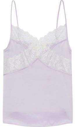 Anora Lace-trimmed Satin Camisole