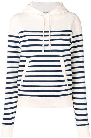 horizontal striped hoodie
