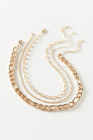 Rilla Chunky Chain Necklace Set | Urban Outfitters