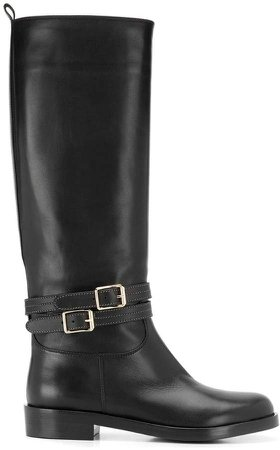 buckle detail boots