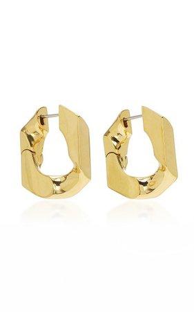 Unit 16k Gold-Plated Hoop Earrings By Numbering | Moda Operandi