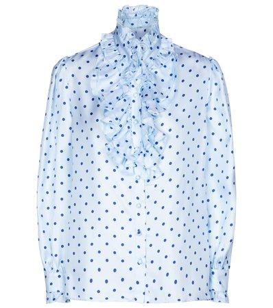 Rodarte - Polka-dot silk twill blouse   Mytheresa