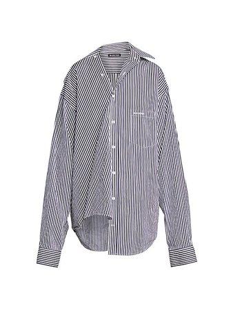 Balenciaga Twisted Striped Shirt | SaksFifthAvenue
