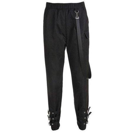 black buckle cargo pants