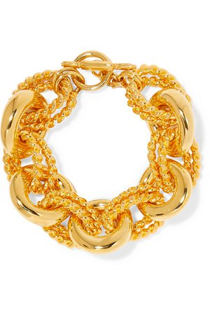 Kenneth Jay Lane | Gold-tone bracelet | NET-A-PORTER.COM