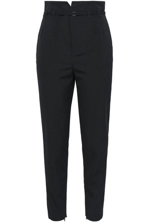 Black Belted canvas tapered pants | Sale up to 70% off | THE OUTNET | REDValentino | THE OUTNET