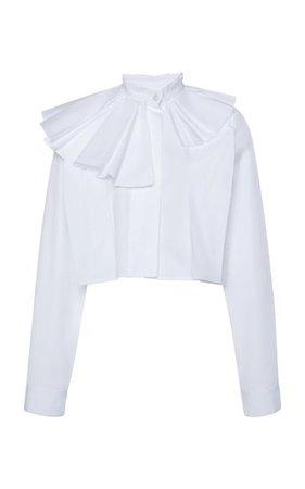 Cropped Cotton Blouse By Jil Sander | Moda Operandi