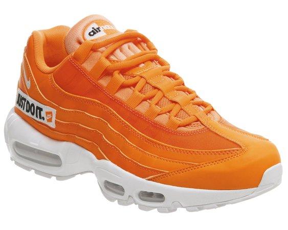 Nike Air Max 95 Trainers Total Orange White Black Jdi