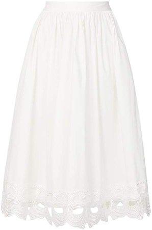 embroidered full skirt