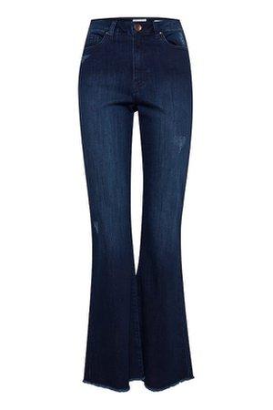 Dark blue flared jeans