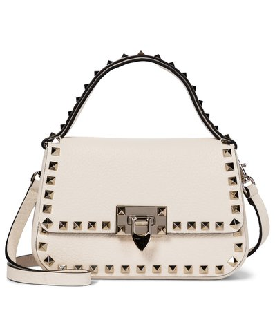 Valentino / Garavani - Valentino Garavani Rockstud Small leather shoulder bag | Mytheresa