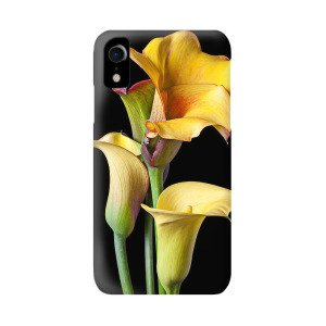 Yellow Calla Lily In Black And White Vase IPhone XR Case for Sale by Garry Gay