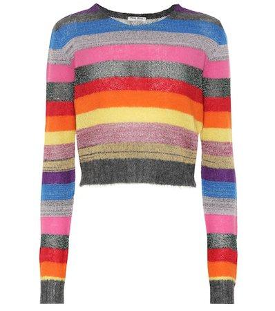 Striped wool-blend sweater