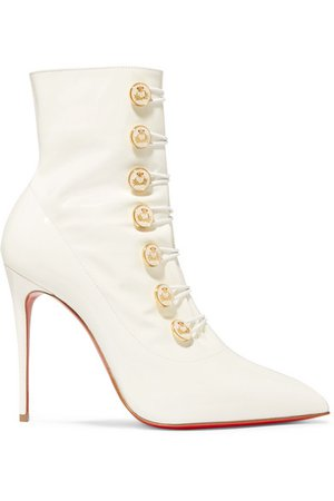 Christian Louboutin | Liossima 100 patent-leather ankle boots | NET-A-PORTER.COM
