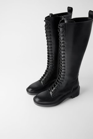 LOW HEELED LACED BOOTS-TIMELESS-WOMAN-CORNERSHOPS | ZARA United States