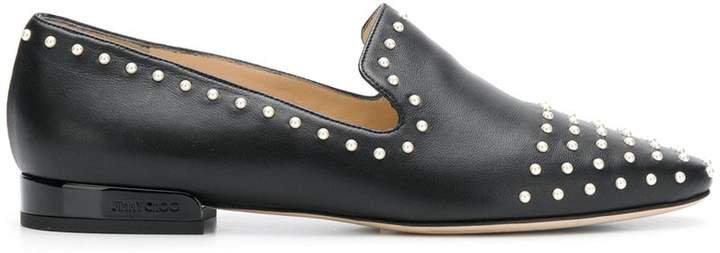 Jaida pearl embellished slippers