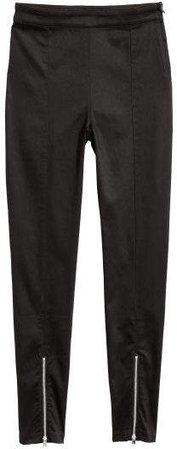 Slim-fit Pants - Black