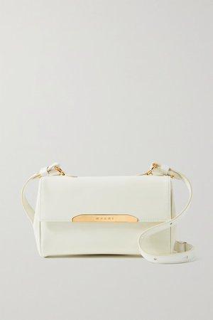 Corinne Mini Leather Shoulder Bag - White