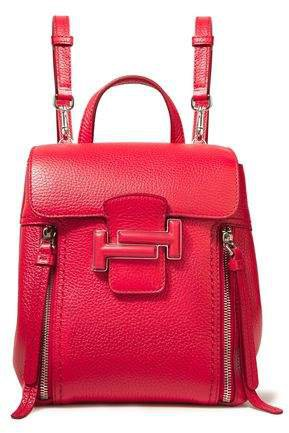 Convertible Pebbled-leather Backpack