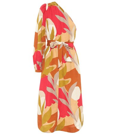 Rebecca Vallance - Sangria printed midi dress | Mytheresa