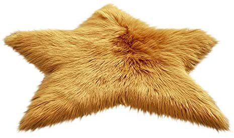 Amazon.com: Iuhan Fluffy Star Carpet Rug Area Floor Mats, Pentagram Floor Mat Non Slip Rug Mats Hairy Soft Fluffy Faux Fur Carpet Mat Home (Yellow): Beauty