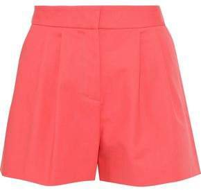 Pleated Cotton-blend Shorts