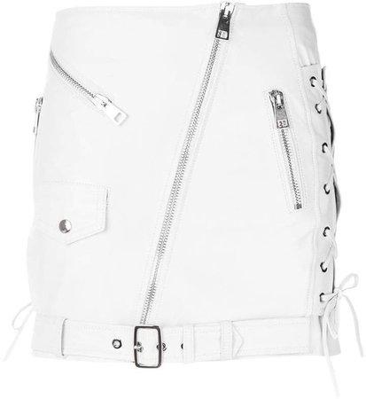 Manokhi off-center zip fastening skirt