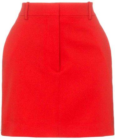 side stripe wool mini skirt