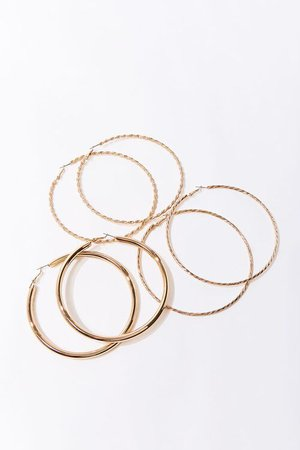 Twisted Hoop Earring Set