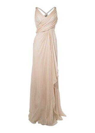 Grecian draped wedding dresses