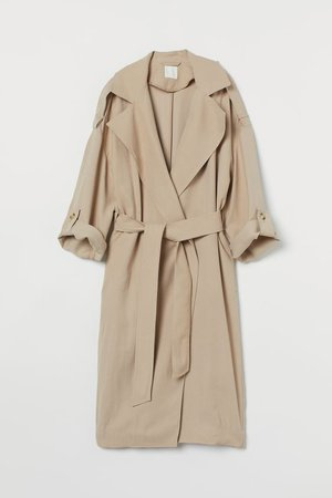 Tie Belt Coat - Beige - Ladies | H&M US