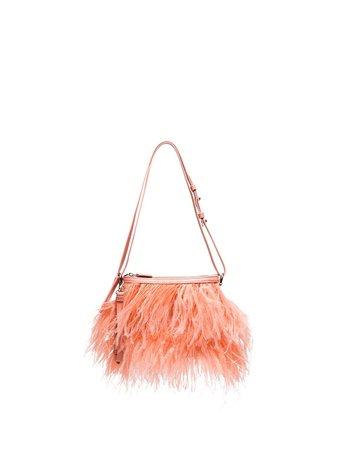 Marques'Almeida feather-trimmed Shoulder Bag - Farfetch