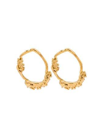 Alighieri 24kt gold-plated Unreal City Hoop Earrings - Farfetch