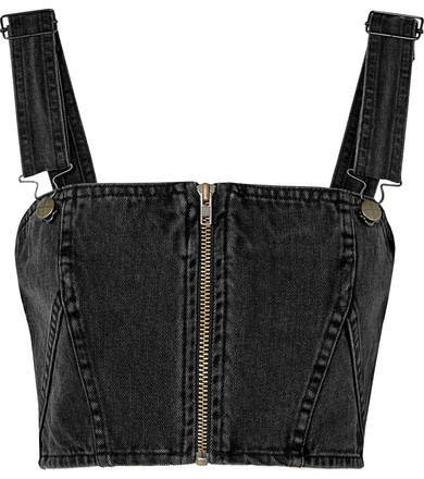 Legacy Cropped Denim Top - Black