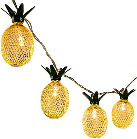 Amazon.com : GIGALUMI 15ft 20 LED Pineapple String Lights, Fairy String Lights Battery Operated for Patio Home Wedding Party Bedroom Birthday Decoration (Warm White) : Garden & Outdoor