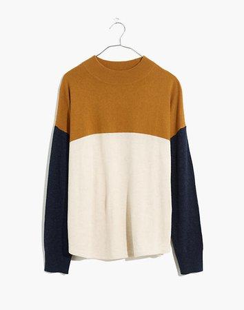 Colorblock Ashbury Mockneck Sweater