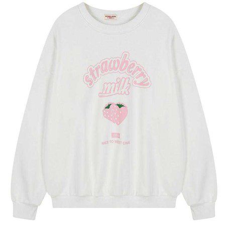STRAWBERRY MILK SWEATSHIRT – Boogzel Apparel