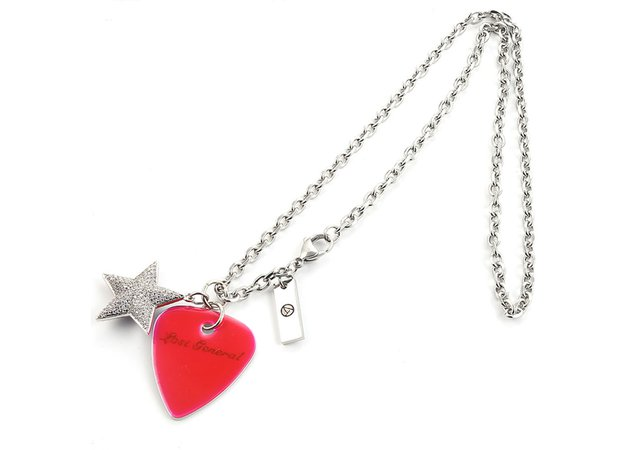 guitar pick star necklace