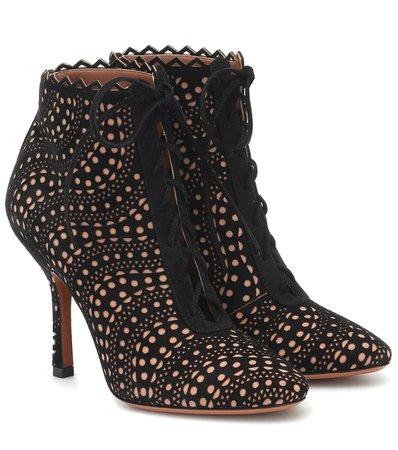 Suede Ankle Boots   Alaïa - Mytheresa