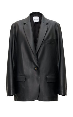 Single-Breasted Leather Blazer By The Attico | Moda Operandi