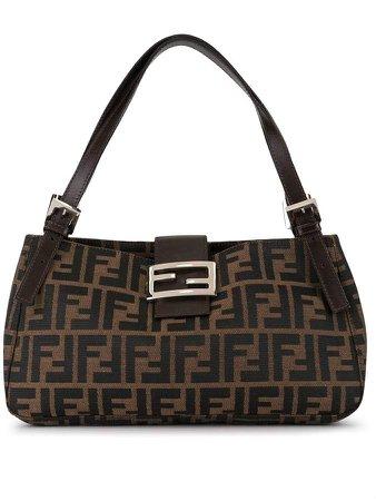 Pre-Owned Zucca pattern Mamma baguette shoulder bag