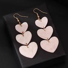 heart dangle earrings - Google Search