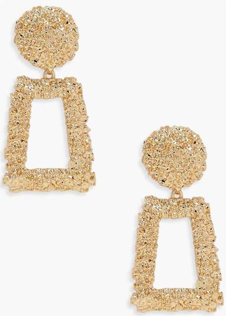 boohoo gold earrings