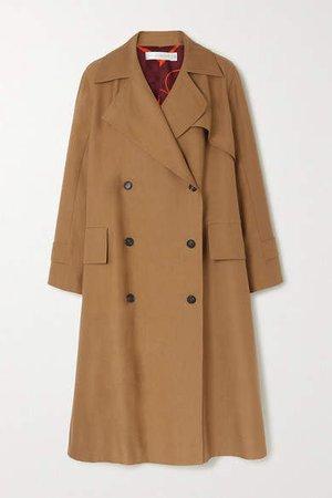 Cotton-blend Canvas Trench Coat - Tan