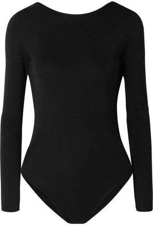 Ninety Percent - Stretch-tencel Bodysuit - Black
