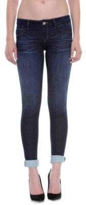 Sold Design Lab Blue French Terry Cuffed Skinny Jean