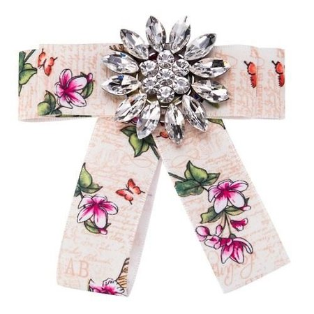 Graffiti Crystal Brooch Women Tie