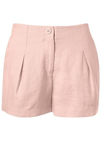 Light Pink Linen Shorts | VENUS