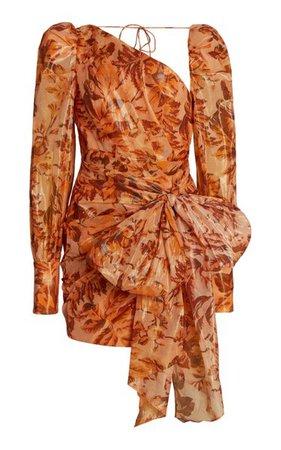 Charlotte Bow-Accented Cotton-Blend Mini Dress By Acler | Moda Operandi