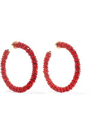 Oscar de la Renta | Beaded hoop earrings | NET-A-PORTER.COM